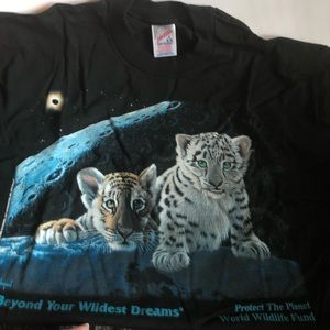 Other - Men's Nip World wildlife fund lion and cub shirt